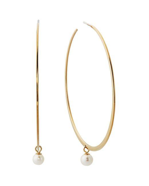 Michael Kors | Metallic Beaded Hoop Earrings | Lyst