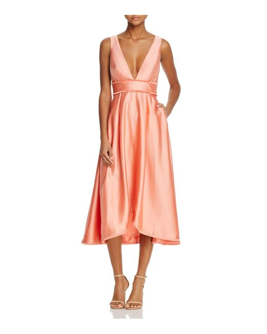 La Maison Talulah | Pink La Maison V-neck Midi Dress | Lyst