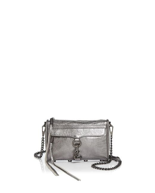 Rebecca Minkoff | Mini Mac Metallic Leather Crossbody | Lyst