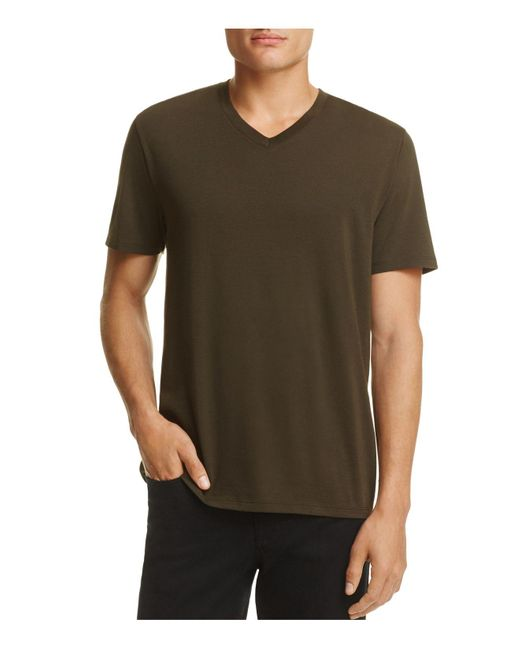 Vince | Brown V-neck Tee for Men | Lyst