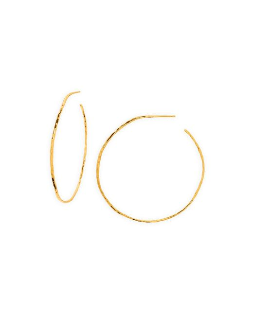 Gorjana | Metallic Harbour Hoop Earrings | Lyst
