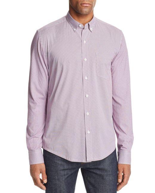 W.r.k. - Purple Reworked Multi-dot Slim Fit Button-down Shirt for Men - Lyst