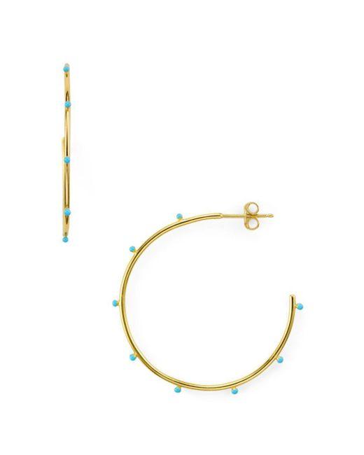 Argento Vivo - Metallic Enamel Studded Hoop Earrings - Lyst