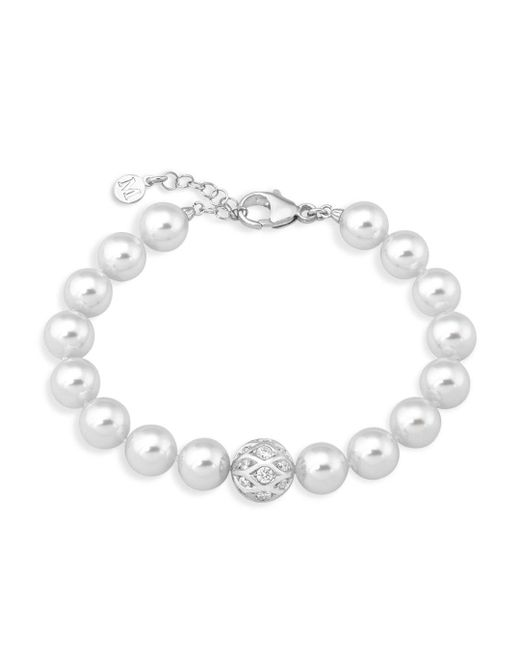 Majorica - White 10mm Simulated Pearl Bracelet - Lyst