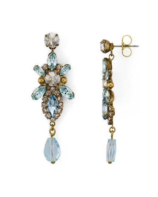 Sorrelli | Multicolor Coastal Mist Chandelier Earrings | Lyst