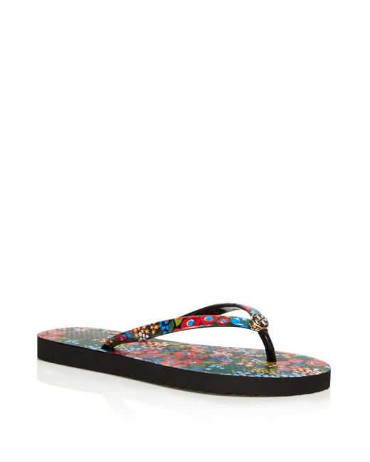 Tory Burch | Multicolor Printed Thin Flip-flops | Lyst