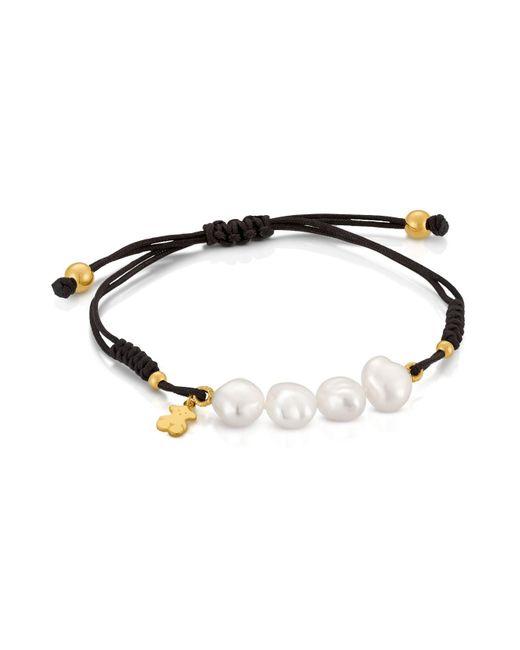 Tous - Metallic Cultured Freshwater Pearl Bracelet - Lyst