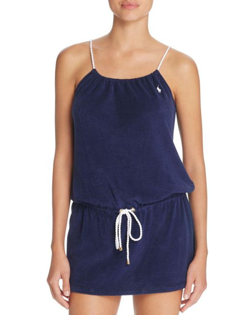 Ralph Lauren - Blue Polo Terry Rope Dress - Lyst