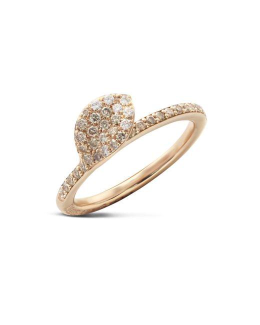Pasquale Bruni - Metallic 18k Rose Gold Secret Garden Single Petal Pavé Diamond Ring - Lyst