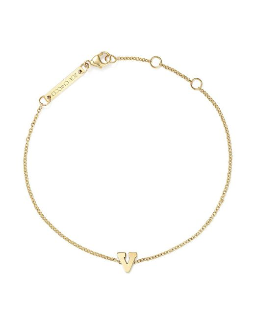 Zoe Chicco - Multicolor 14k Yellow Gold Initial Bracelet - Lyst