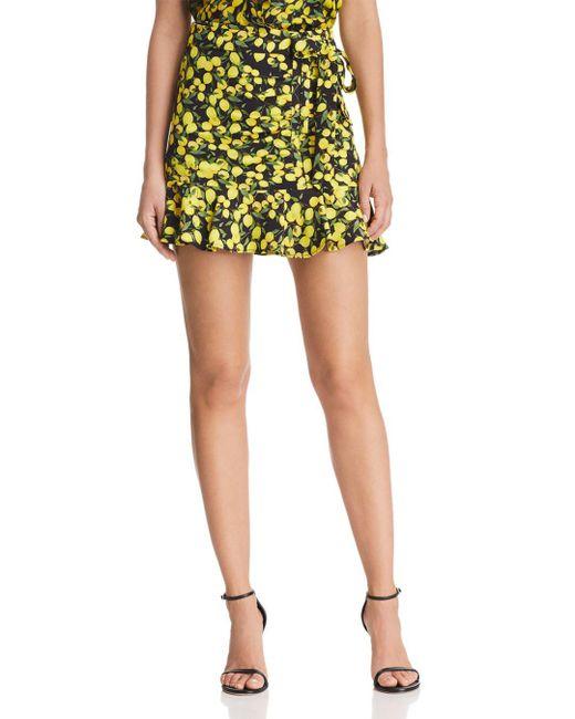 Parker - Multicolor Lieanna Lemon Mini Skirt - Lyst