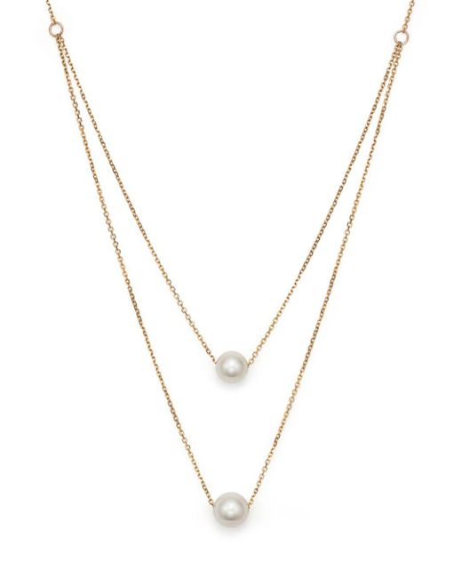 Bloomingdale's - Metallic Cultured South Sea Pearl Two Row Necklace In 14k Yellow Gold - Lyst