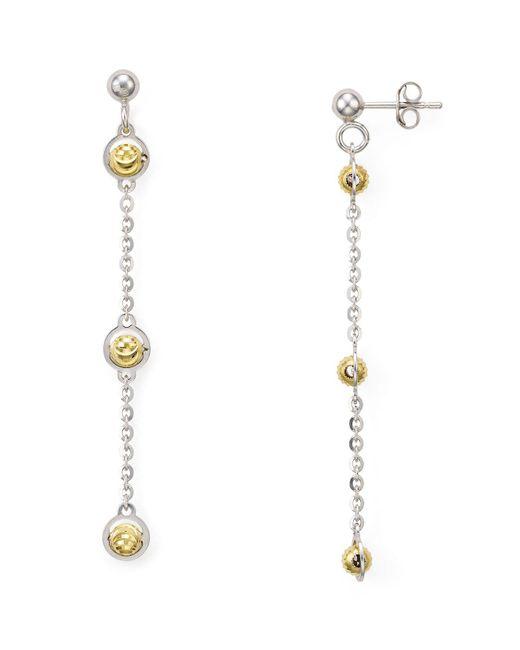 Officina Bernardi - Metallic Beaded Drop Earrings - Lyst