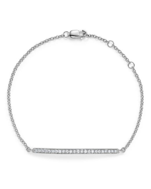 Bloomingdale's - Diamond Bar Bracelet In 14k White Gold, .25 Ct. T.w. - Lyst
