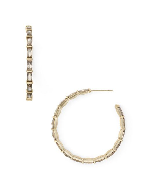 Kendra Scott - Metallic Veda Baguette Hoop Earrings - Lyst