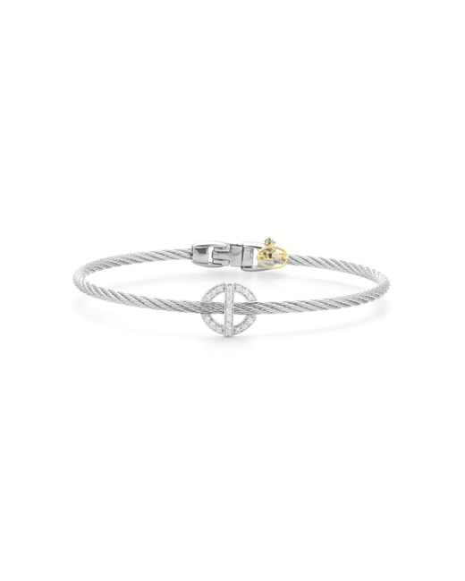 Alor | Metallic Diamond Grey Cable Bangle | Lyst