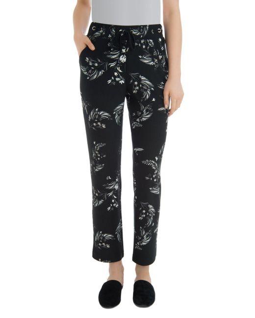 Lyssé - Black Blair Floral Straight Pants - Lyst