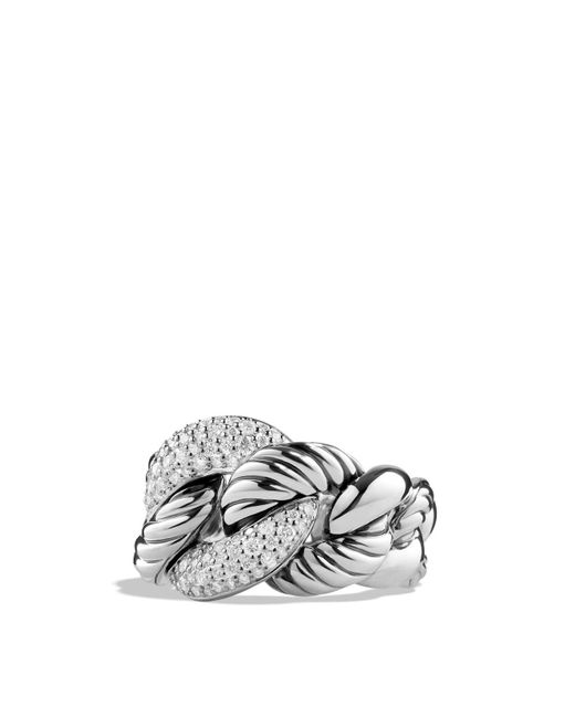David Yurman | Metallic Belmont Ring With Diamonds | Lyst