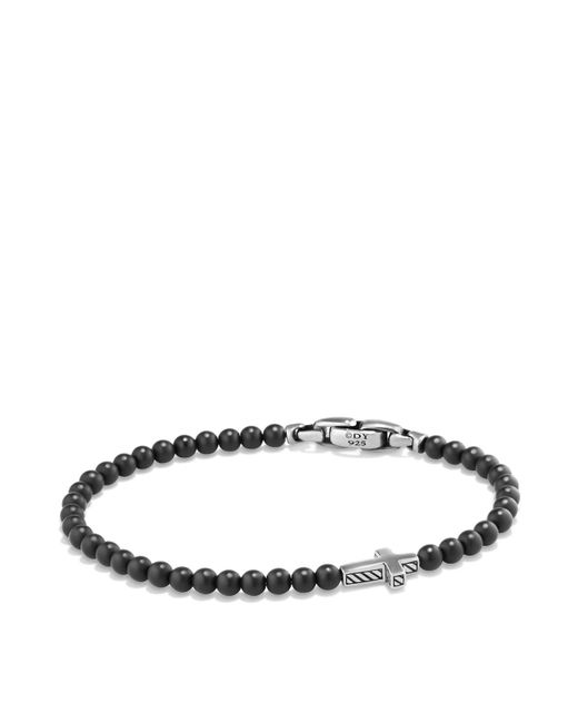 David Yurman | Metallic Spiritual Beads Cross Bracelet With Black Onyx In Sterling Silver | Lyst