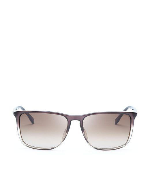 HUGO - Brown Hugo Gradient Lens Rectangle Sunglasses for Men - Lyst