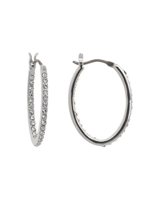 Ralph Lauren - Metallic Lauren Pavé Link Hoop Earrings - Lyst