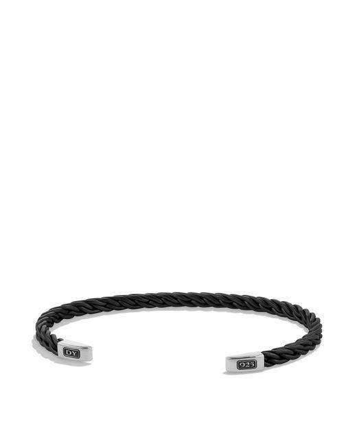 David Yurman | Metallic Chain Titanium Cuff Bracelet In Gunmetal | Lyst