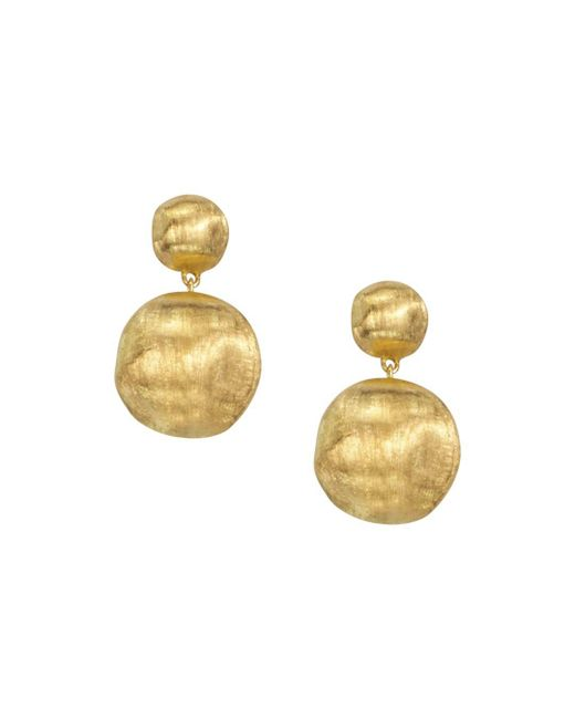"Marco Bicego - Metallic ""africa Collection"" 18k Yellow Gold Bead Drop Earrings - Lyst"