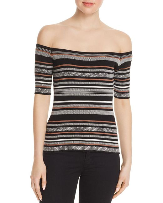 Bailey 44 - Black Lasso Off-the-shoulder Sweater - Lyst