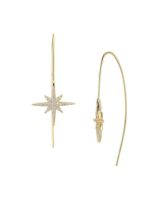 Aqua | Metallic Starburst Threader Earrings | Lyst