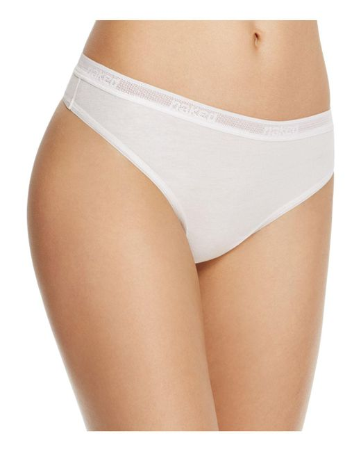 Naked - White Pima Thong - Lyst