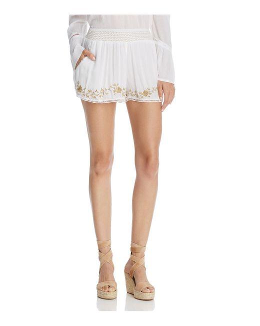 Muche Et Muchette - White Cleopatra Embroidered Shorts - Lyst