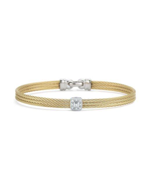 Alor - Metallic Diamond Yellow Cable Bangle - Lyst