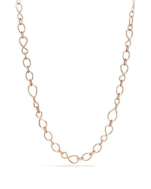 David Yurman - Metallic Continuance Medium Chain Necklace In 18k Rose Gold - Lyst