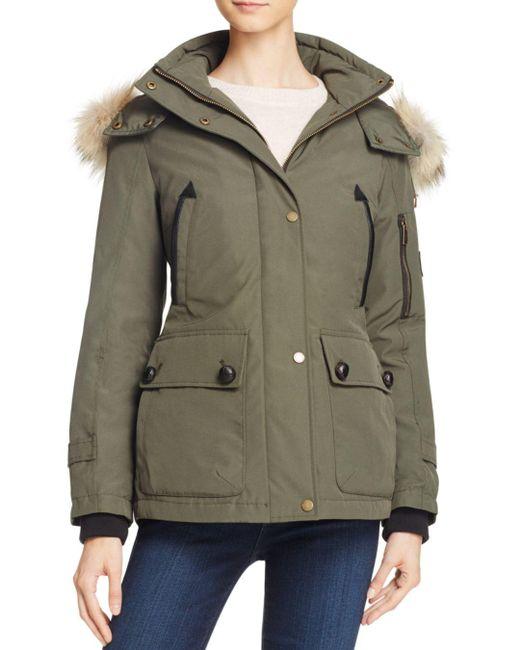 Pendleton - Green Bachelor Fur Trim Down Coat - Lyst