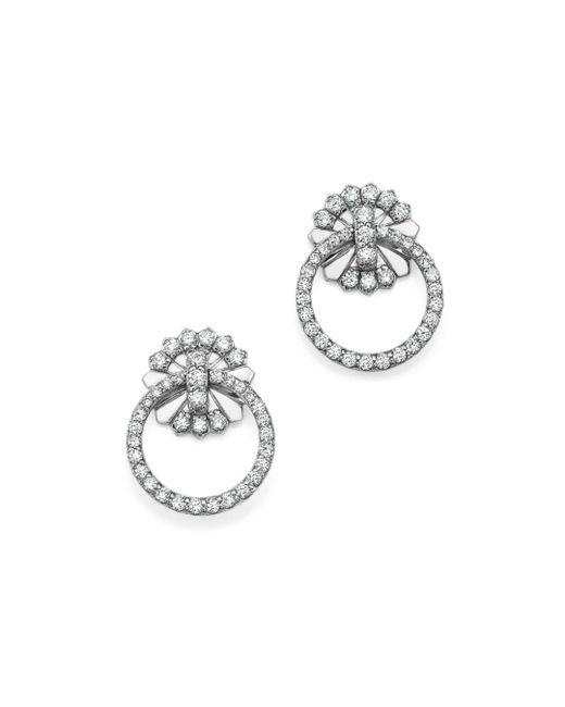 KC Designs - 14k White Gold Diamond Circle Earrings - Lyst