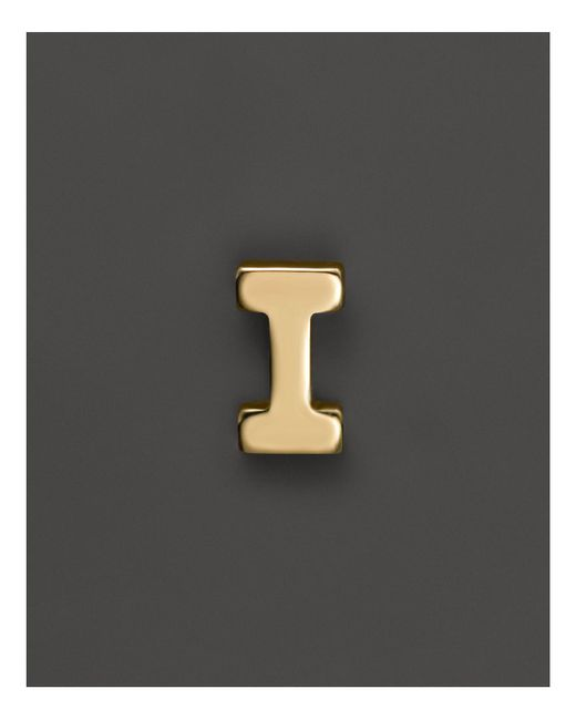 Zoe Chicco - 14k Yellow Gold Single Initial Stud Earring - Lyst