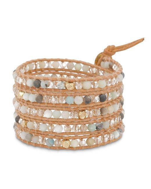 Chan Luu   Multicolor Beaded Leather Wrap Bracelet   Lyst