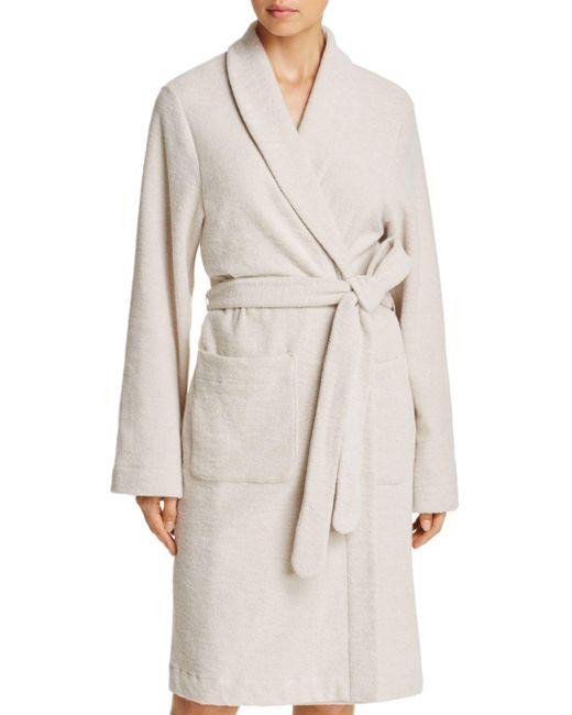 Hanro - Natural Plush Wrap Robe - Lyst