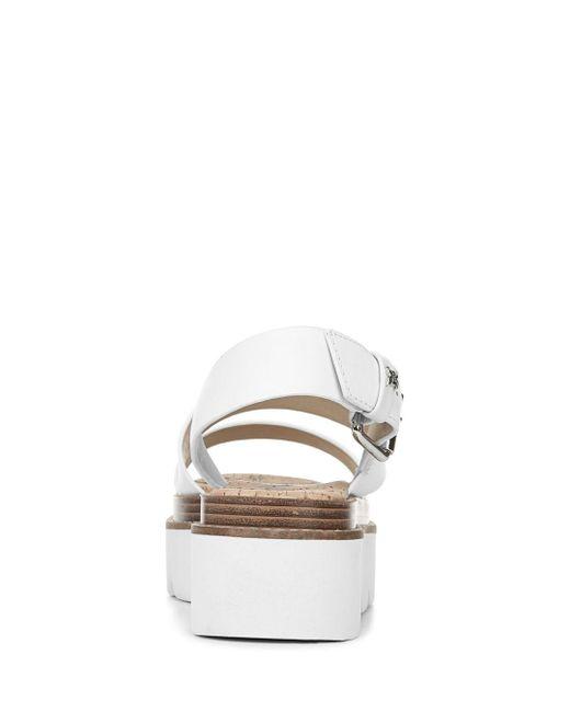 21541e0dd998 Lyst - Sam Edelman Women s Rasheed Platform Sandals in White
