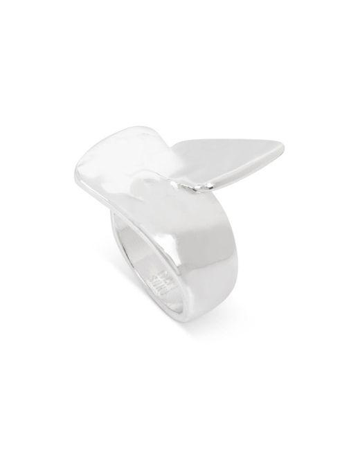 Robert Lee Morris - Metallic Shiny Sculpted Ring - Lyst