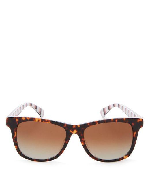 Kate Spade - Brown Women's Charmine Square Sunglasses - Lyst