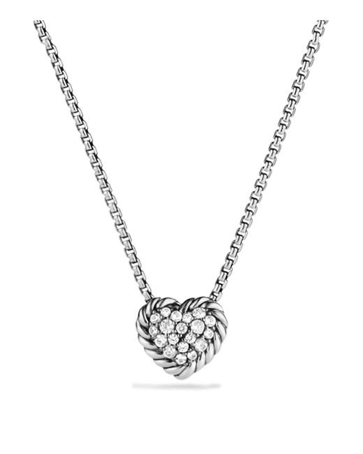 David Yurman | Metallic Châtelaine Heart Pendant Necklace With Diamonds | Lyst