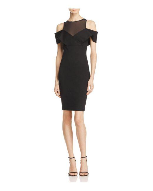 Elliatt | Black Apparition Cold-shoulder Dress | Lyst