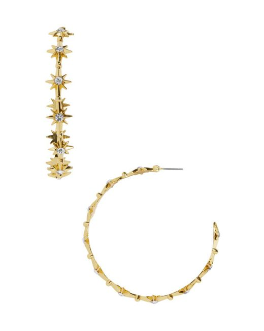 BaubleBar - Metallic Michele Hoop Earrings - Lyst