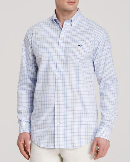 Vineyard Vines - Blue Tattersall Whale Classic Fit Button-down Shirt for Men - Lyst