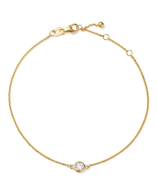 Bloomingdale's - Metallic Diamond Bezel Set Bracelet In 14k Yellow Gold, .15 Ct. T.w. - Lyst
