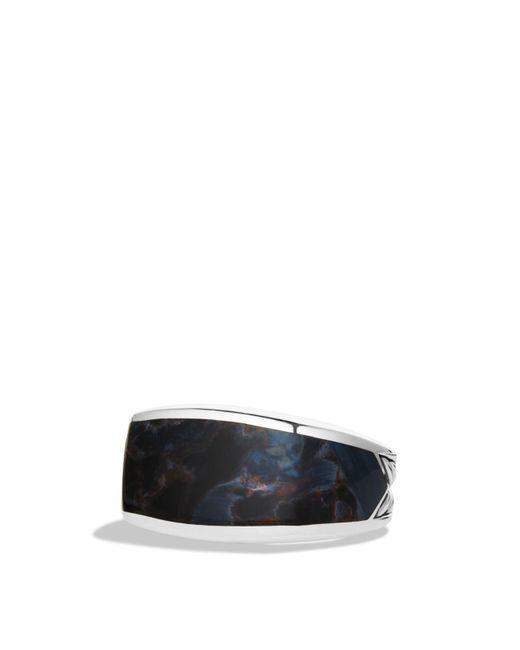 David Yurman | Metallic Exotic Stone Three-sided Ring With Pietersite for Men | Lyst