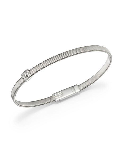 Marco Bicego | 18k White Gold Masai Single Station Diamond Bracelet | Lyst