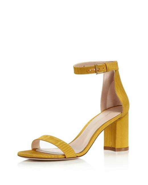 Stuart Weitzman - Multicolor Women's Lessnudist Grosgrain Ankle Strap Sandals - Lyst