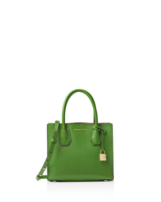 fa4e61d76ff0 Michael Kors Sloan Medium Logo And Leather Satchel in Green - Save ...